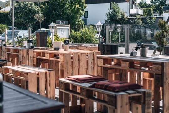 Terrasse vom Restaurant MUN am Edersee