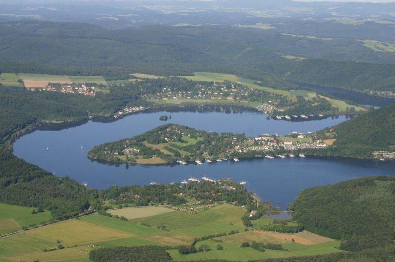 Luftaufnahme der Halbinsel Scheid von oben
